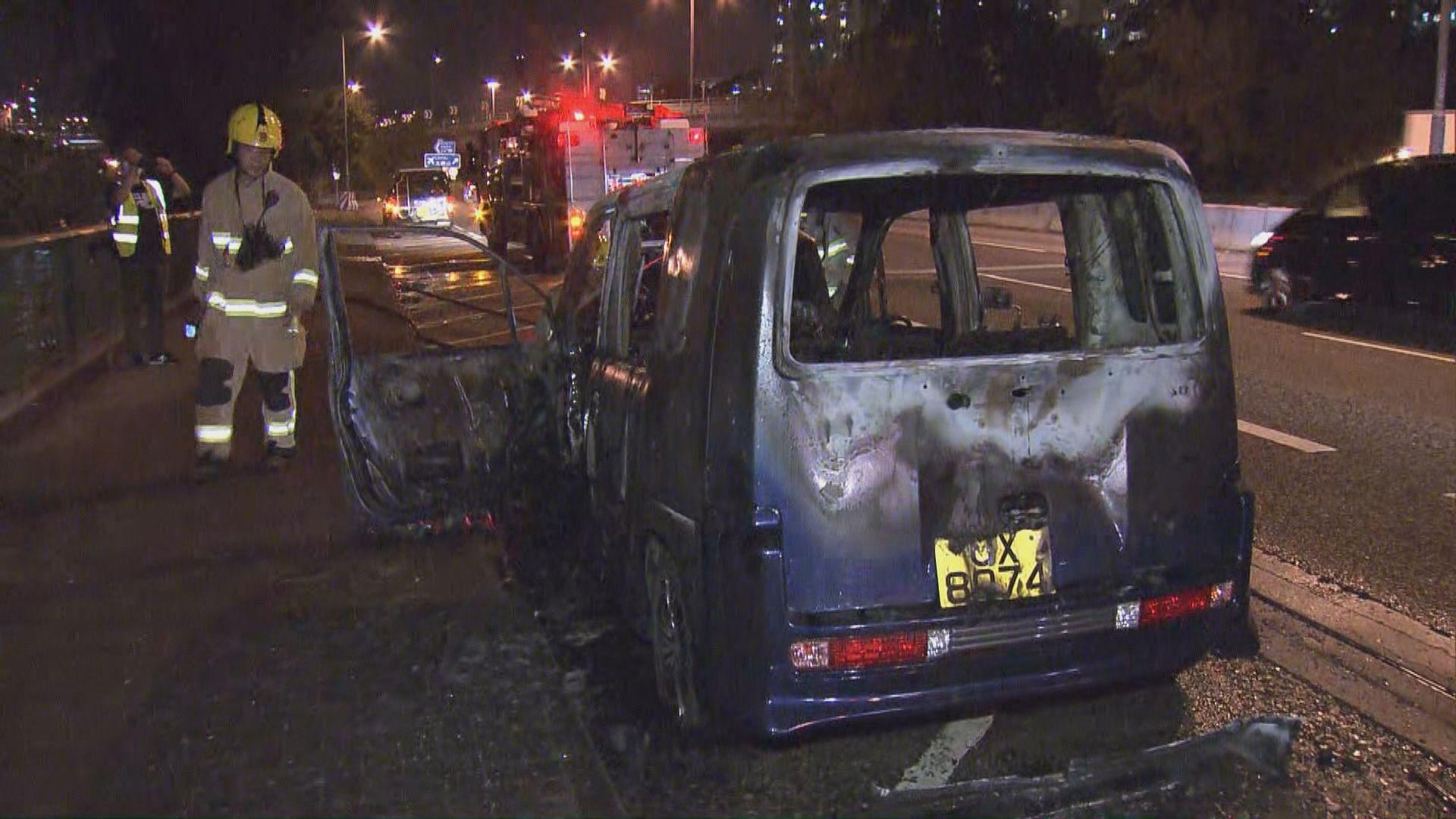 私家車美孚起火 無人受傷