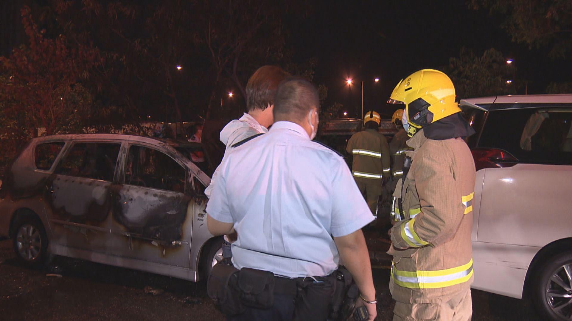 紅磡碼頭私家車遭縱火燒毀