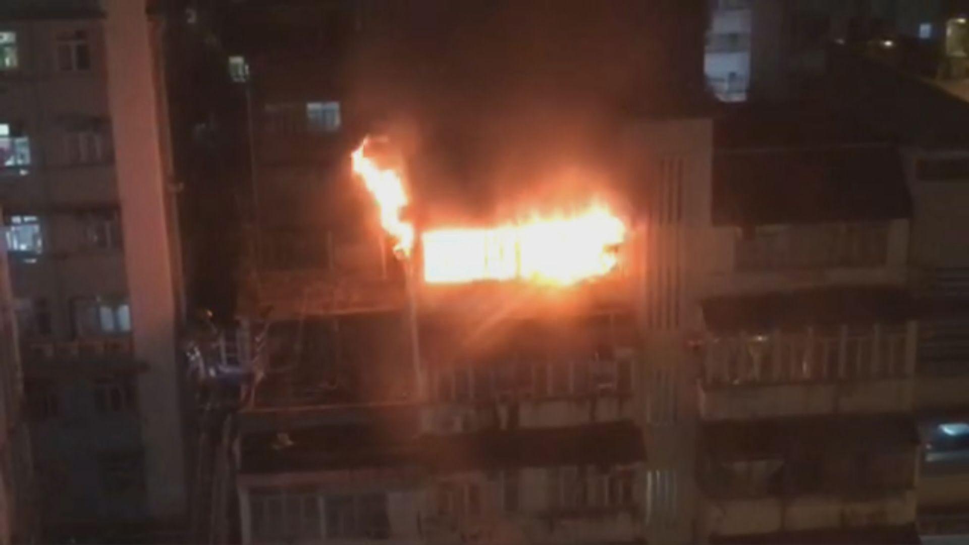 長沙灣天台屋起火無人受傷