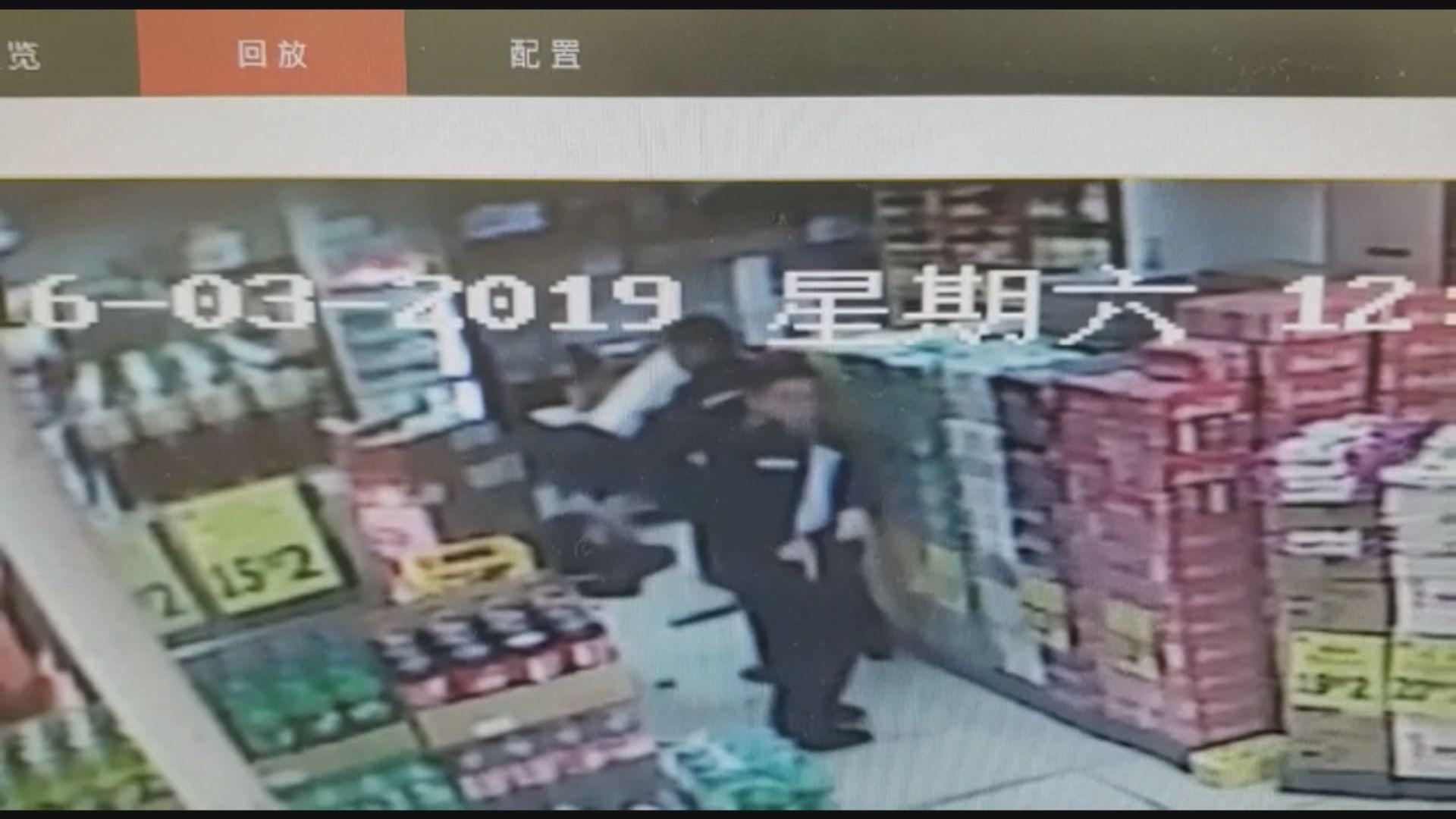 油麻地開槍案 閉路電視拍攝到警員擊斃男子