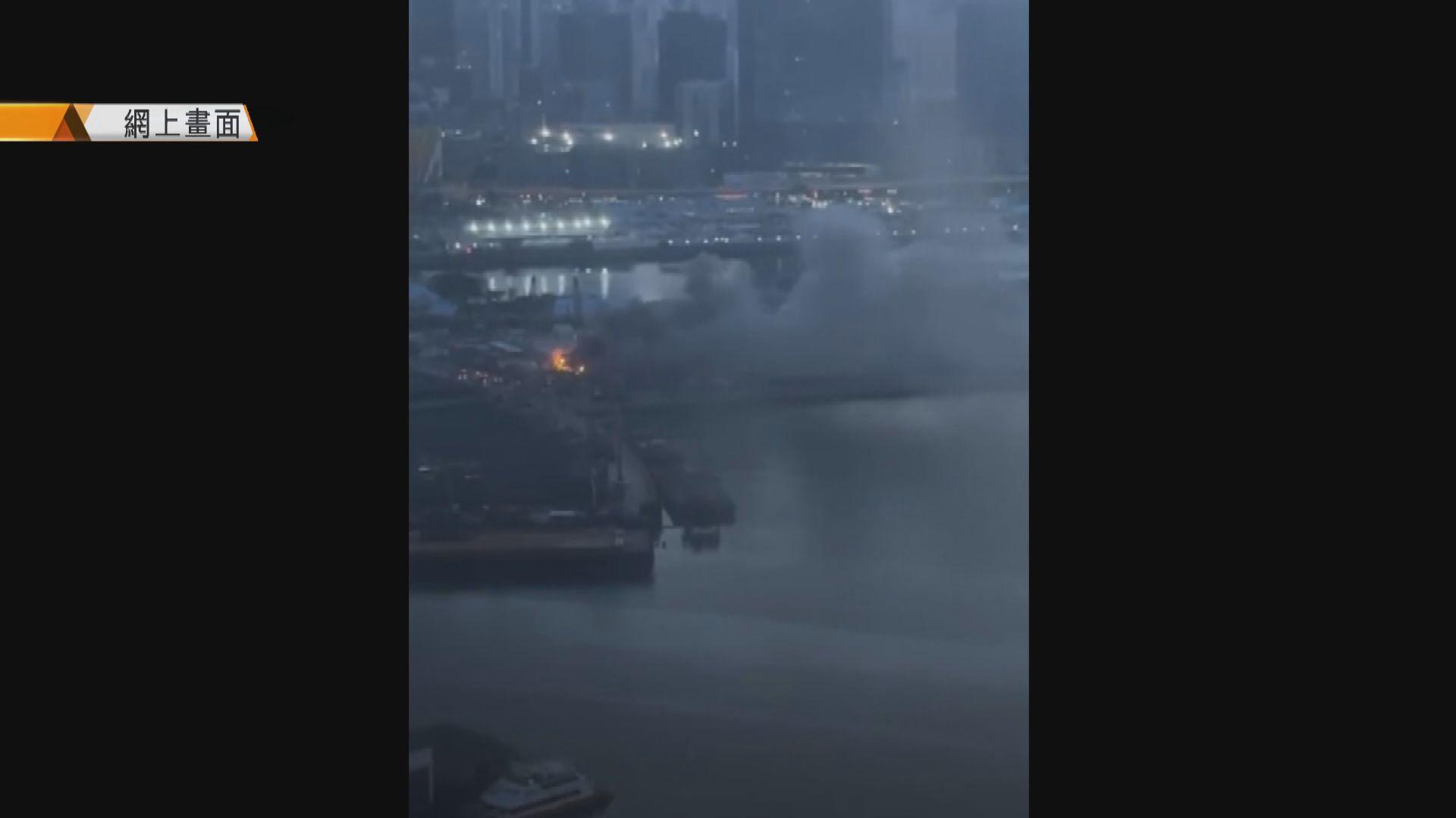 九龍城一個地盤貨櫃屋發生火警