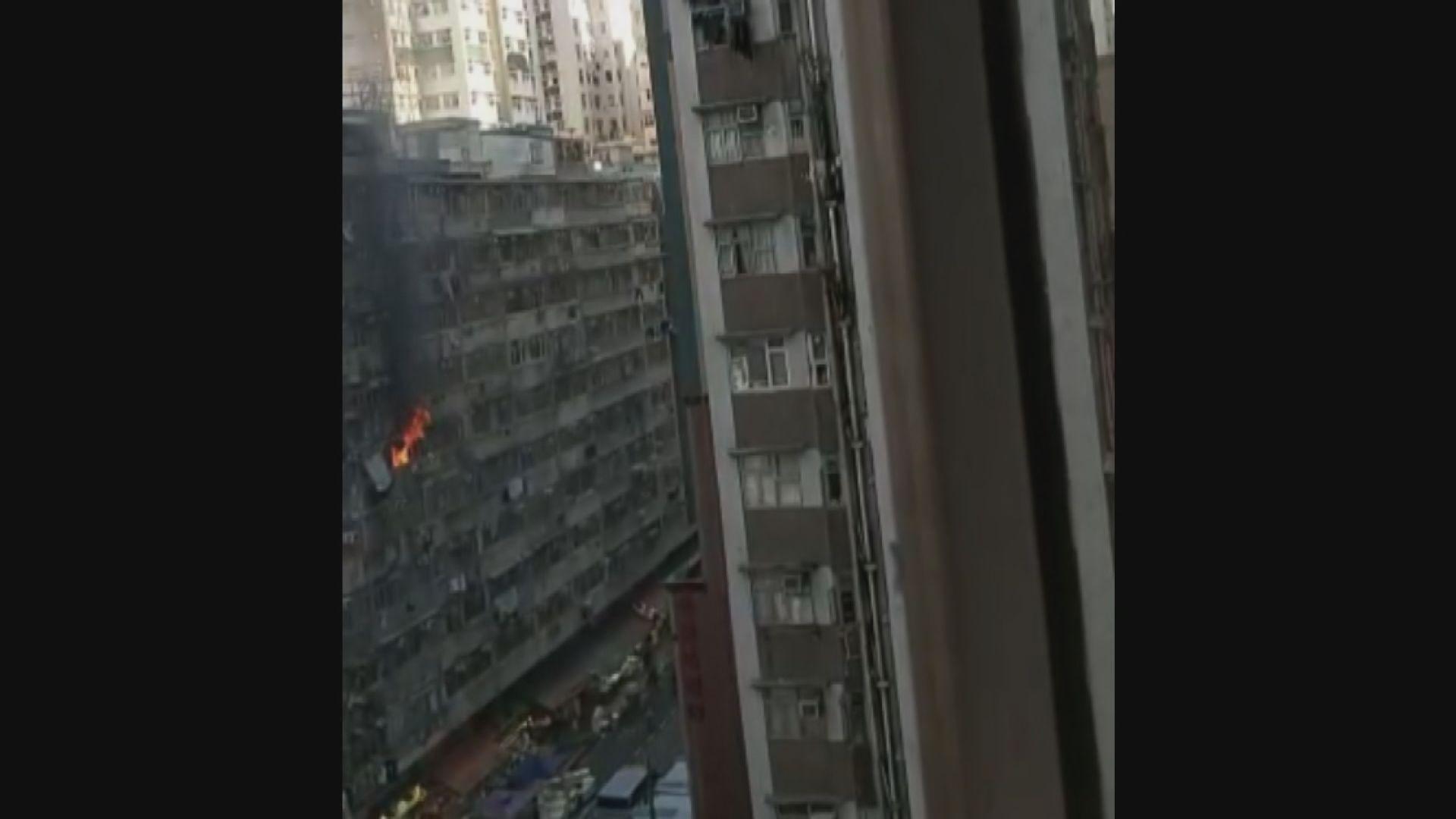 北角春秧街大廈火警 十人送院