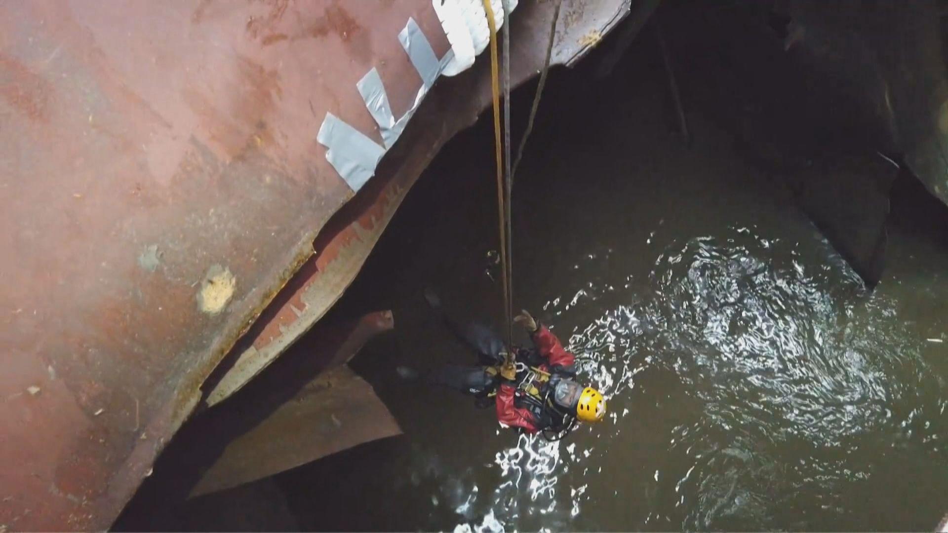 消防暫停運油船上搜救工作