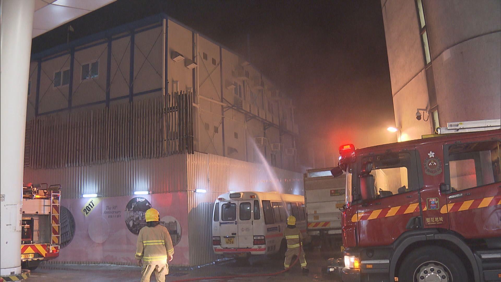 瑪麗醫院擴建地盤辦公室起火無人傷