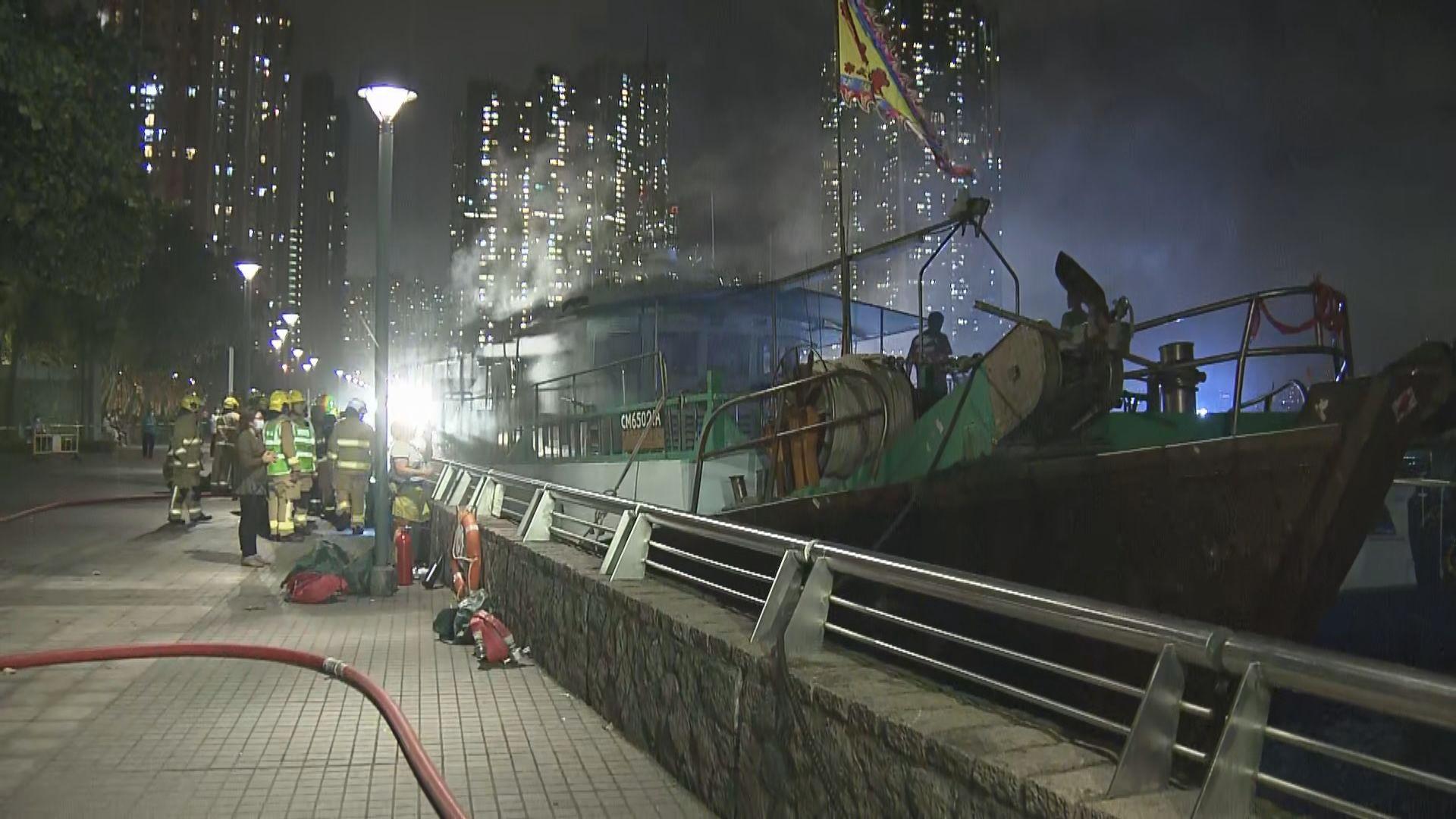 筲箕灣避風塘漁船起火 無人受傷