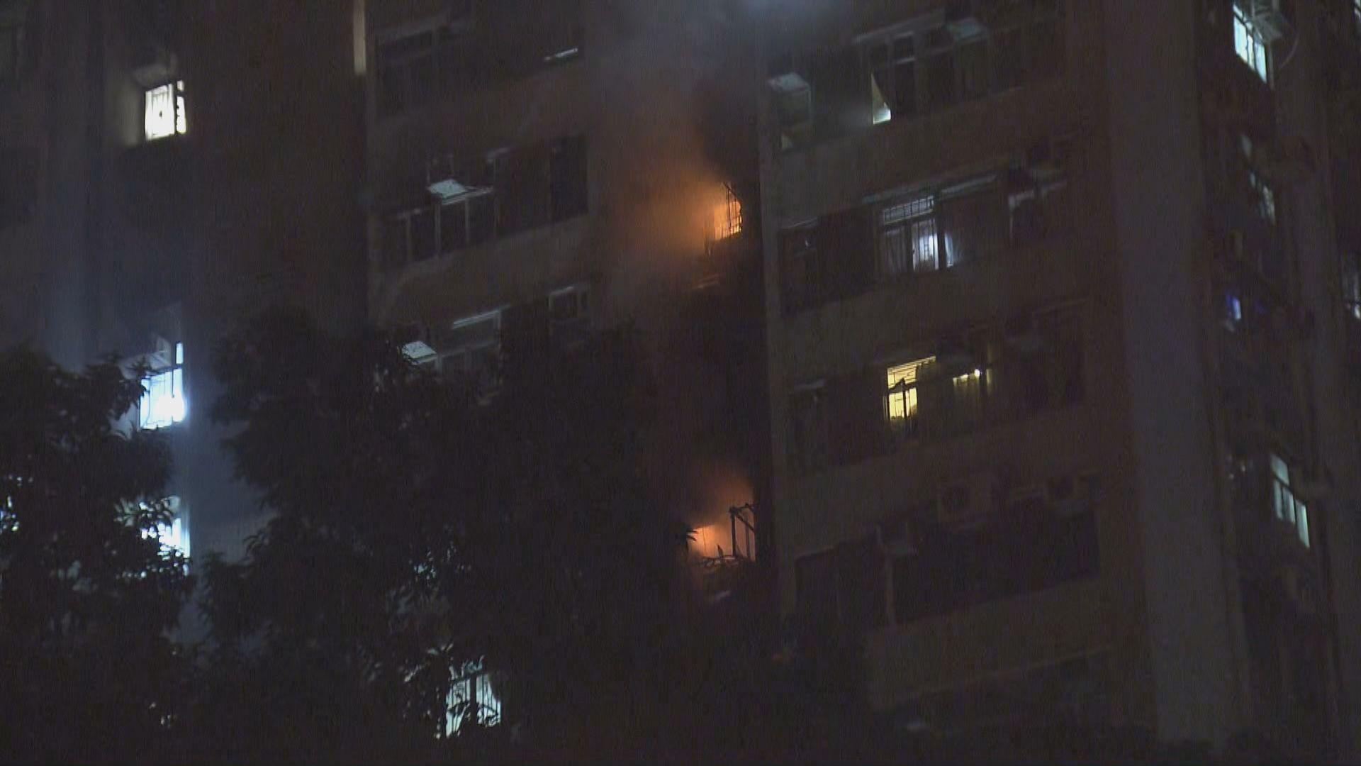 沙田豐盛苑兩個單位着火1死2人送院