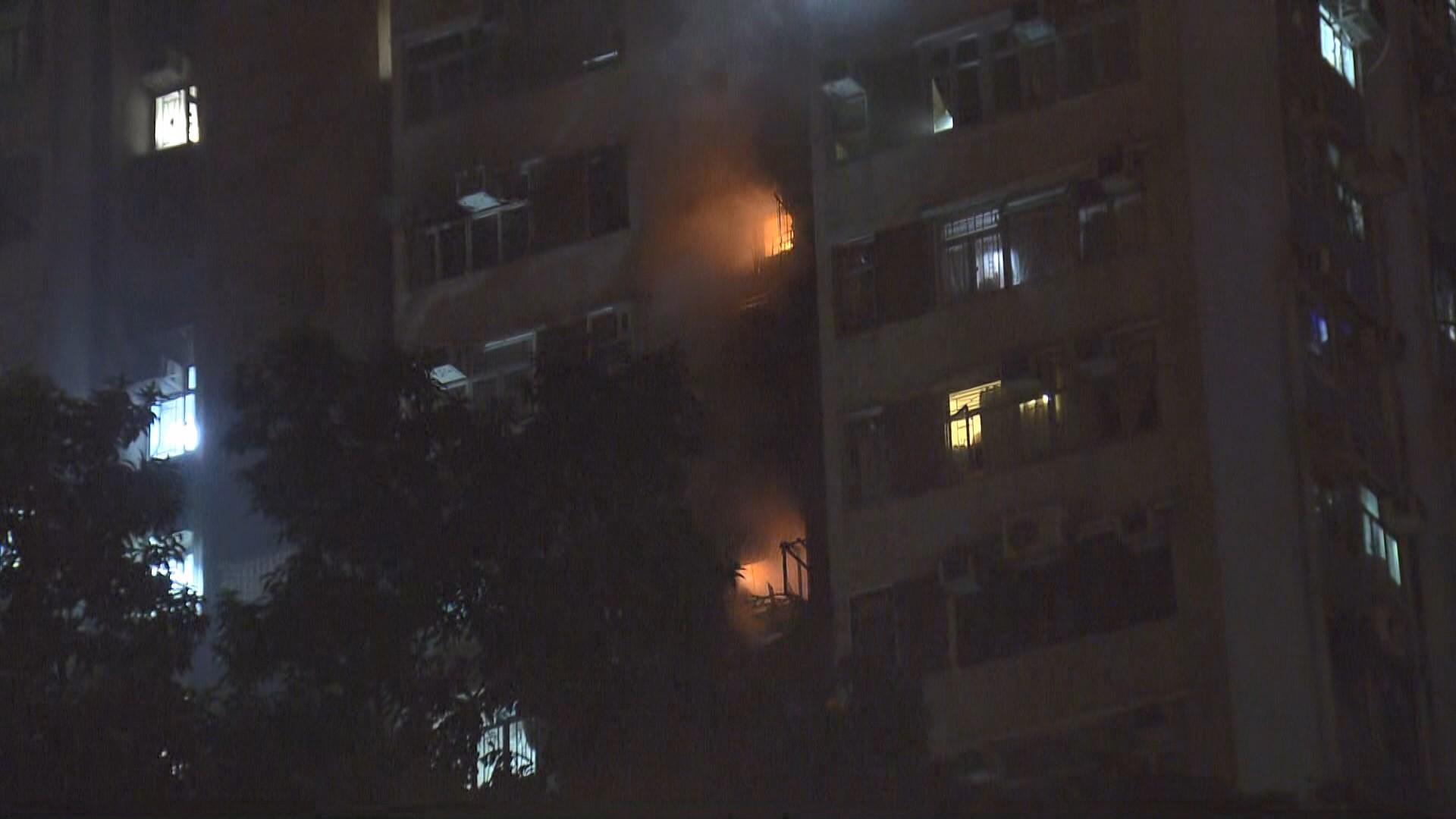 沙田豐盛苑火警一死 有居民指欲以消防喉救火但無水
