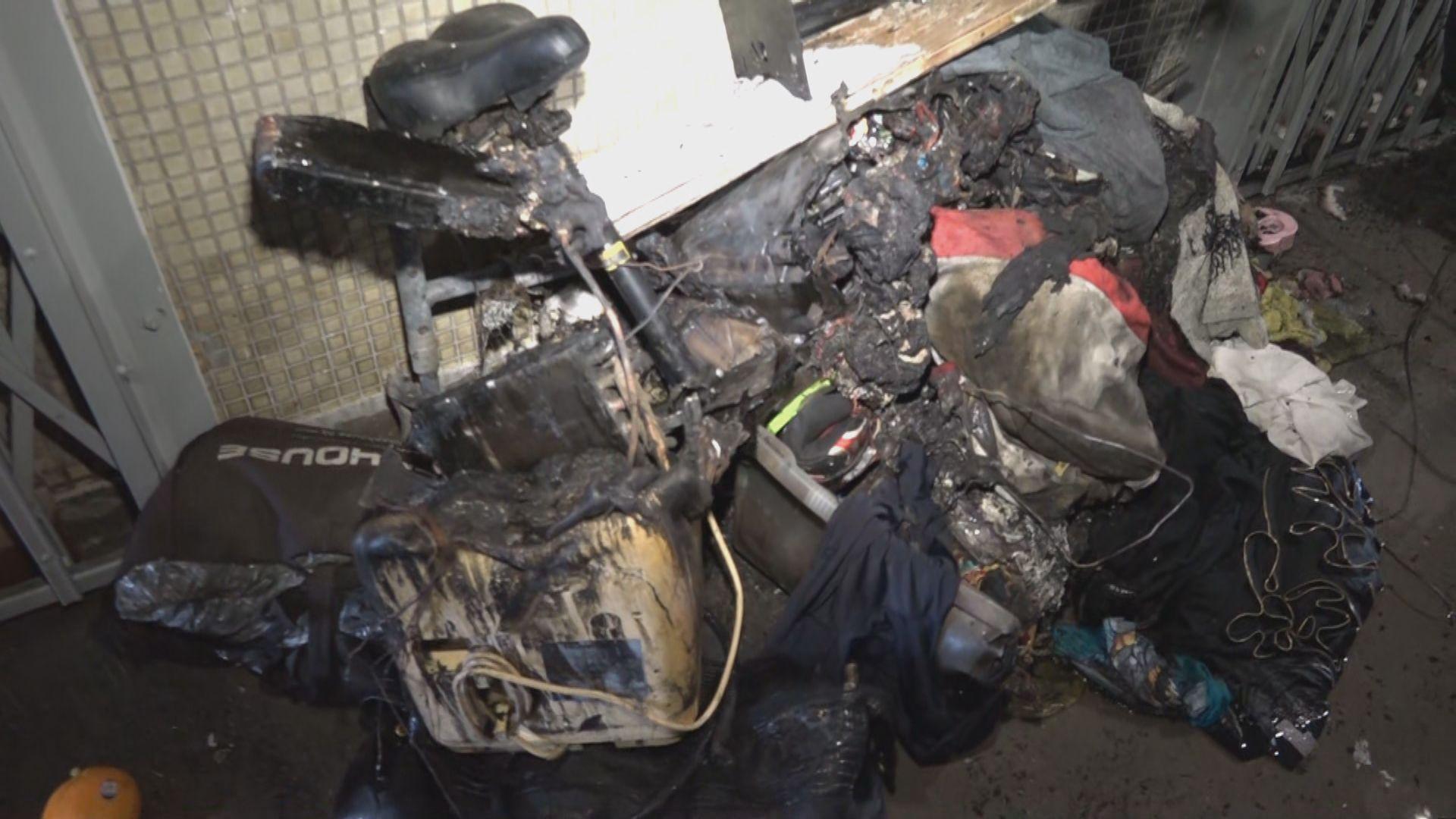 沙角邨火警釀一死兩傷 疑因電動滑板車充電時電線短路