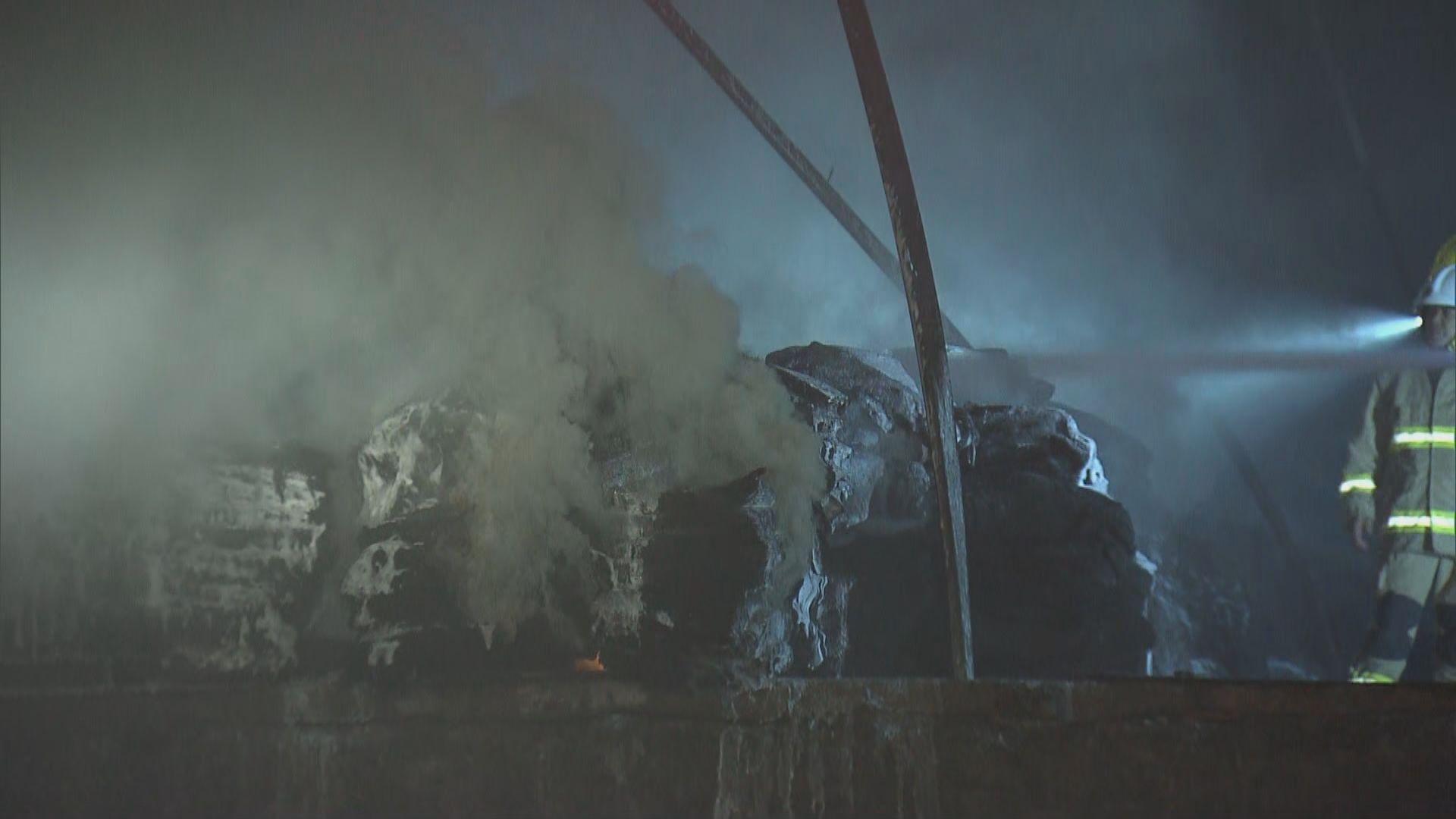 天水圍新生村回收場起火無人傷
