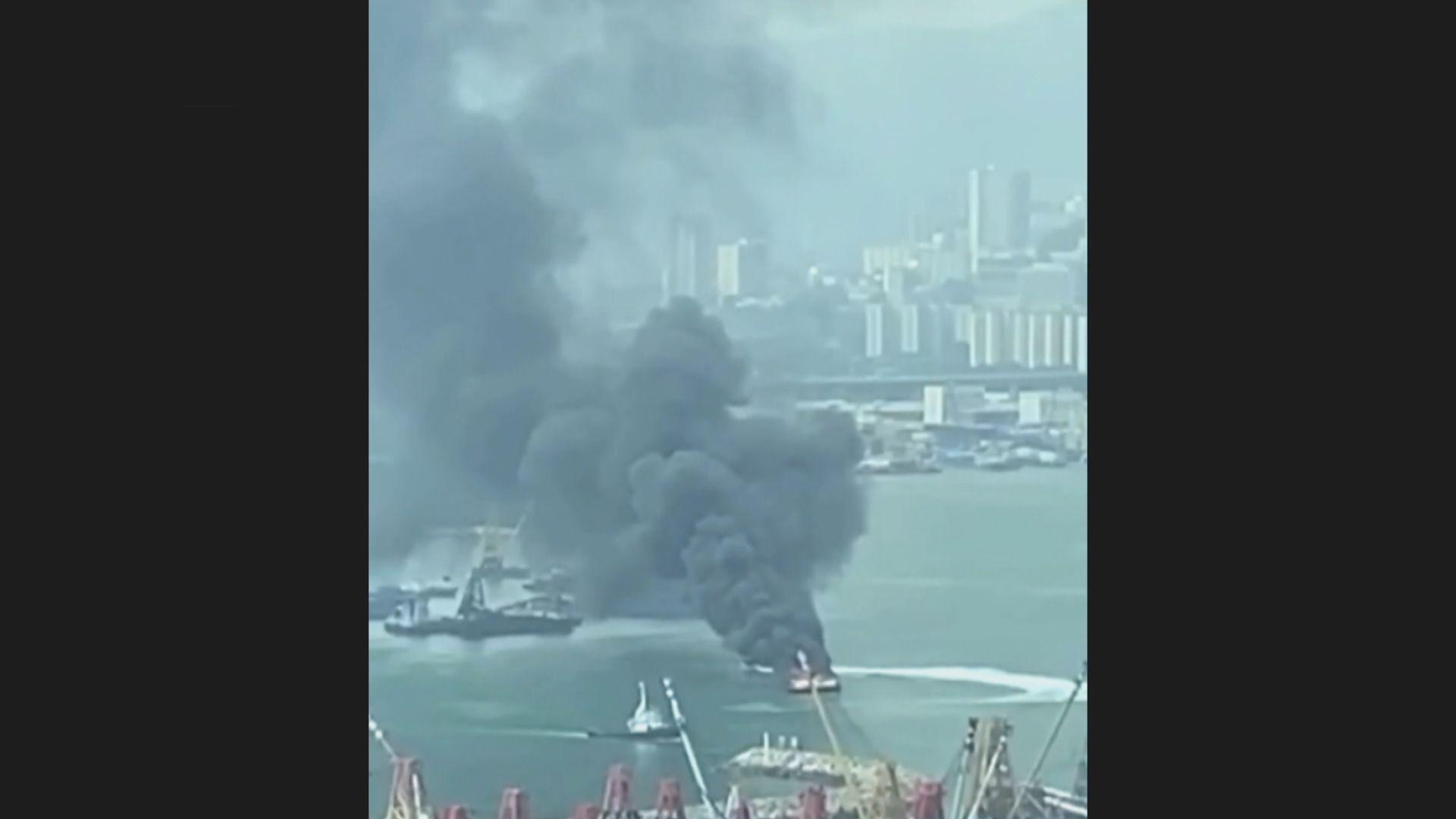 油麻地一艘海事處船隻着火 無人傷