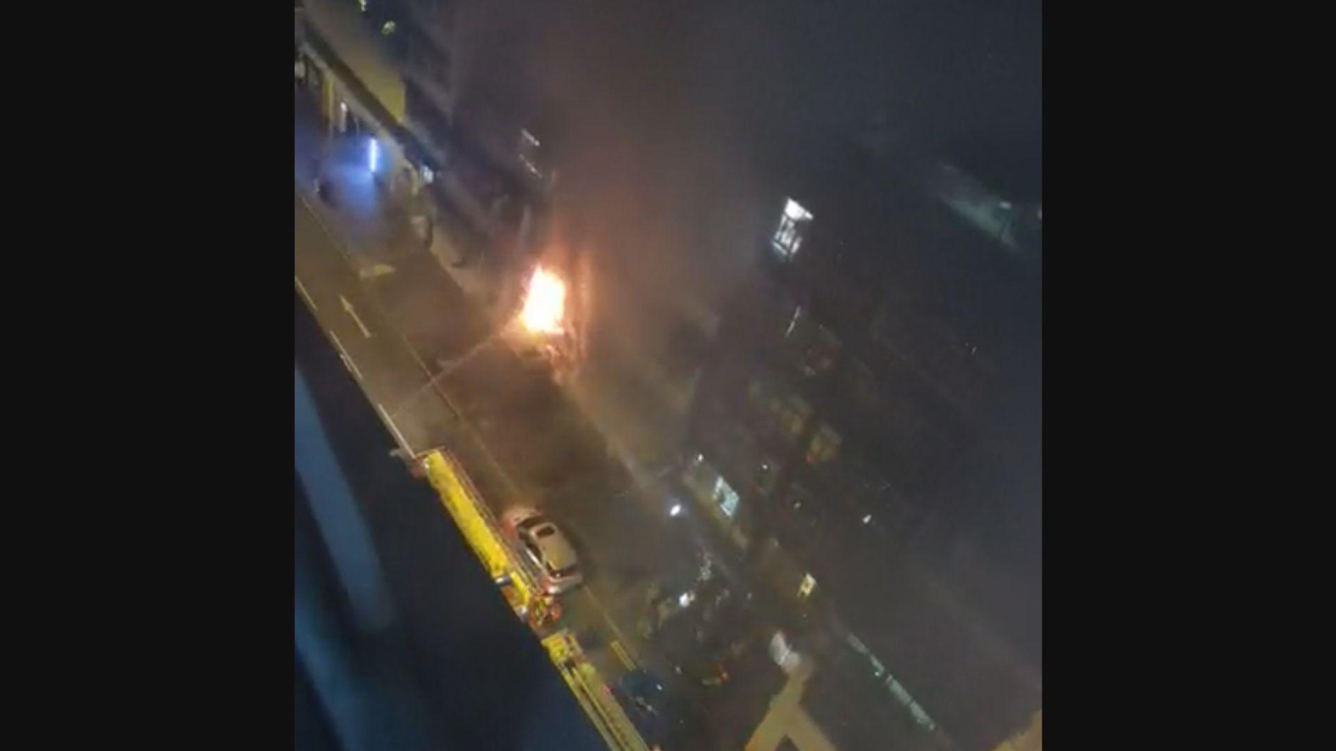消息指油麻地起火單位為尼泊爾餐廳 當時正辦生日會