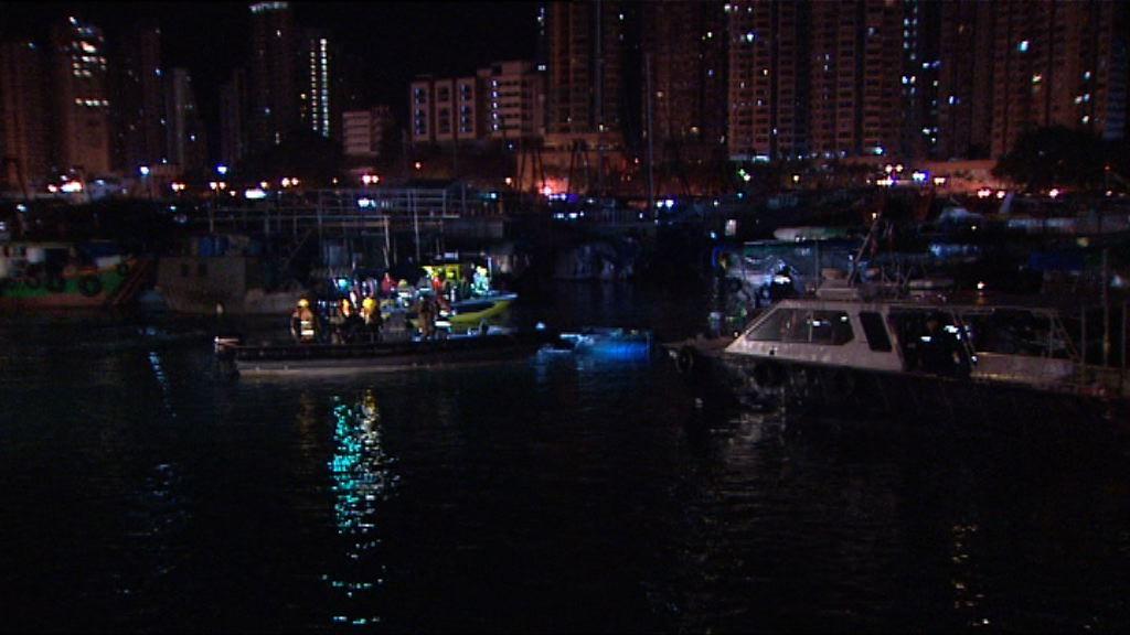 香港仔避風塘三舢舨着火爆炸