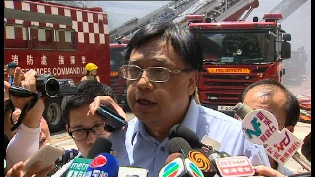 屋宇署:起火工廈外牆現裂痕已圍封