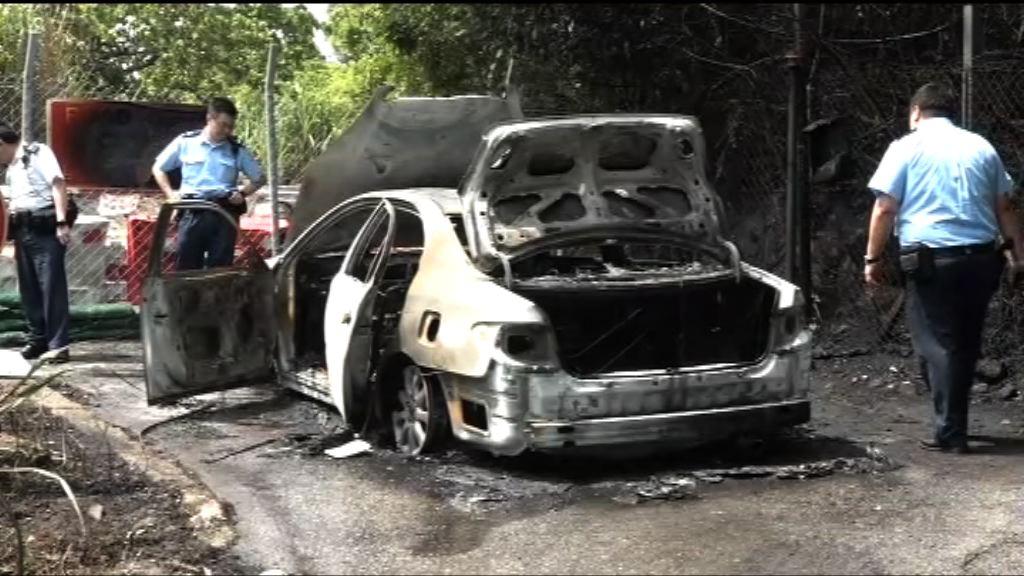 將軍澳私家車起火 警列縱火案