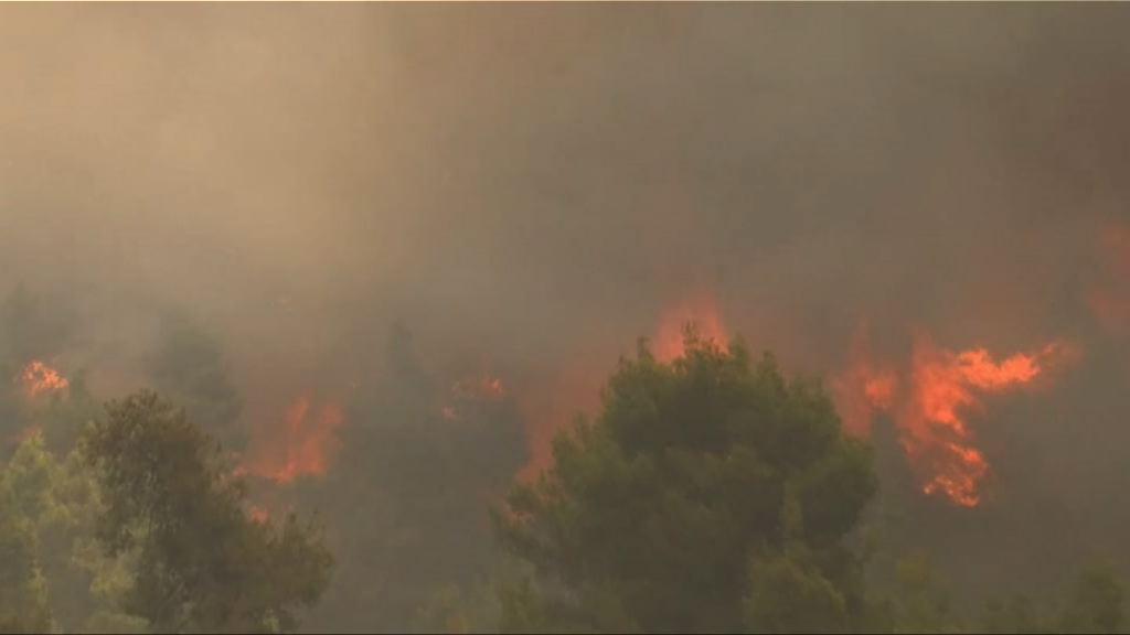 希臘山火 專家指氣候變化令山火爆發率更高