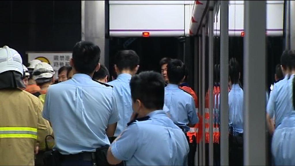 港鐵康城站工程車起火 服務曾受阻四小時