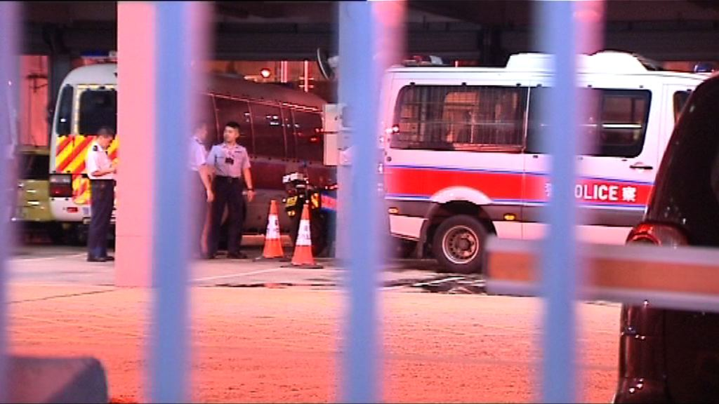 牛頭角警署電單車起火無人傷