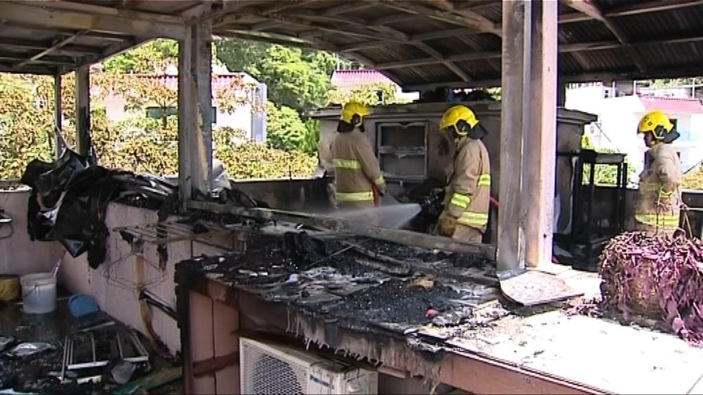 西貢村屋火警一名外傭灼傷送院