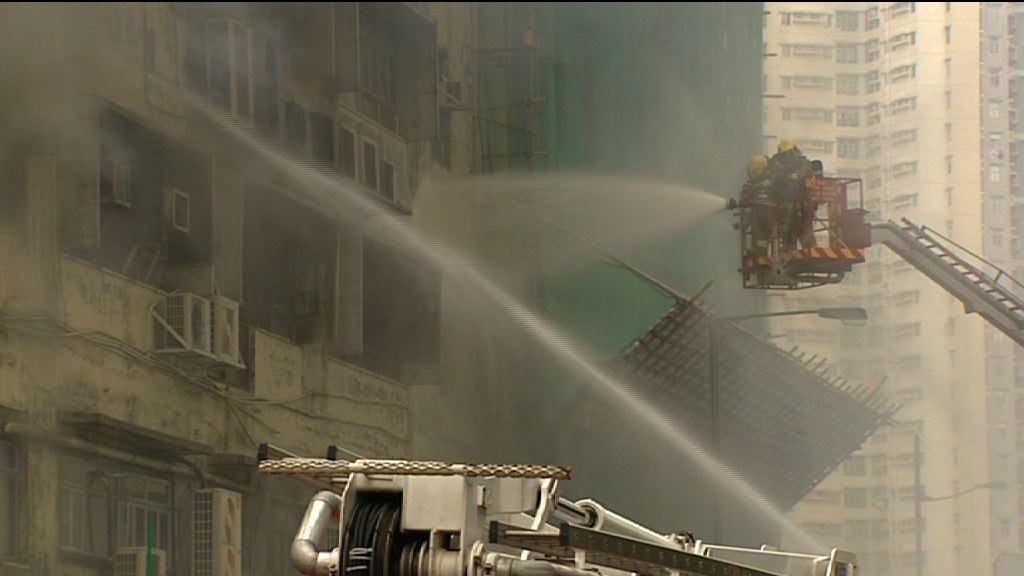 新蒲崗三級火 起火工廈或未設灑水系統