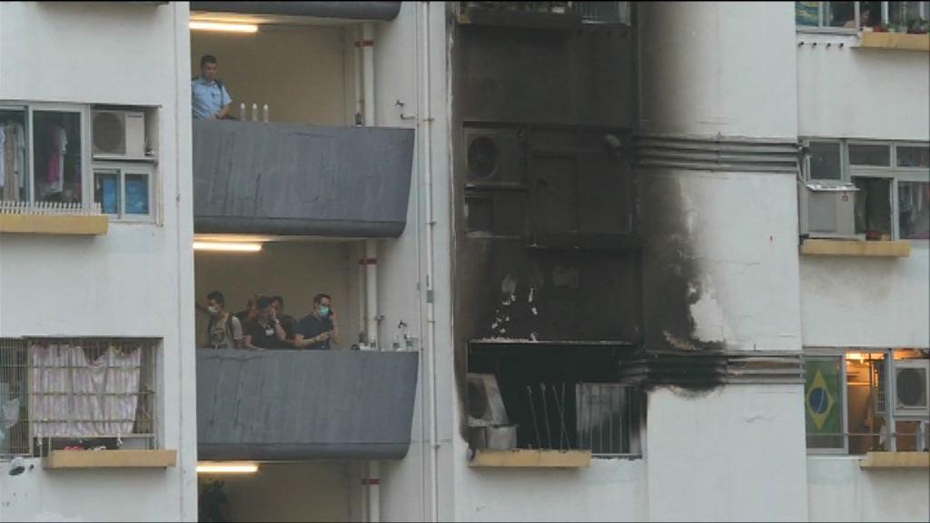 西環觀龍樓火警 消防搜出助燃劑