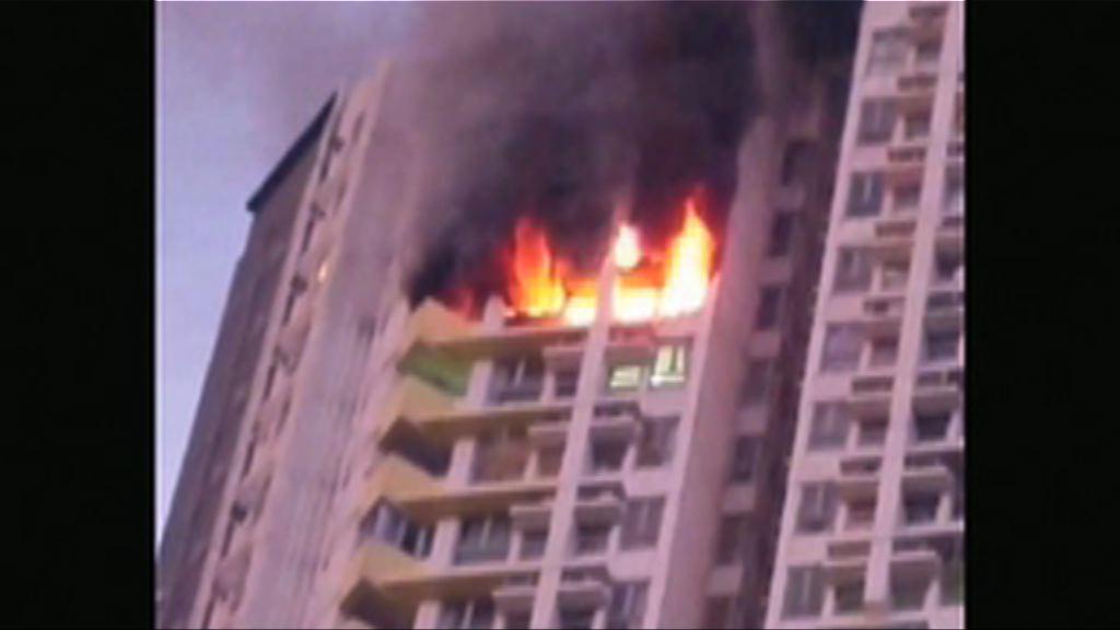 西環觀龍樓火警一人墮樓亡 警方正調查
