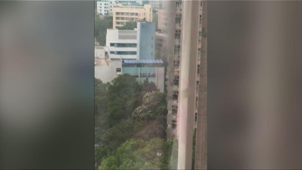 黃大仙鳳德邨單位閉門失火冒濃煙