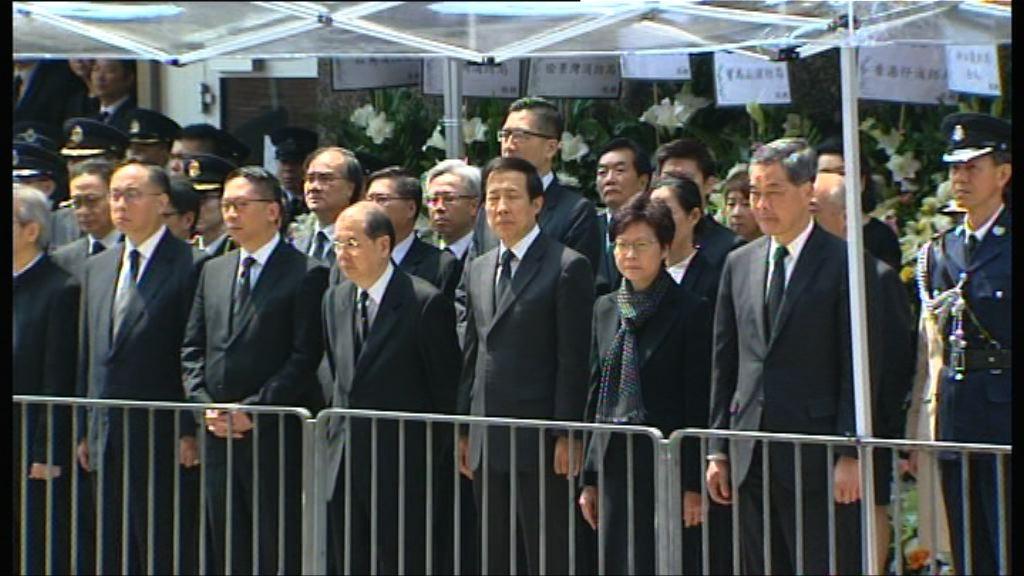 消防處為邱少明舉行最高榮譽喪禮