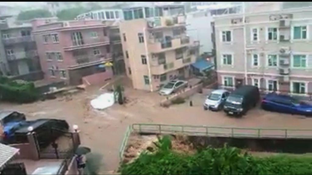 大埔西貢一度錄得每小時逾70毫米雨量