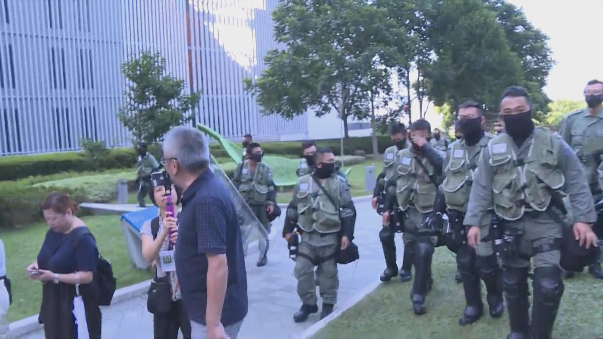 警封添馬公園要求在場人士離開 指預防非法活動