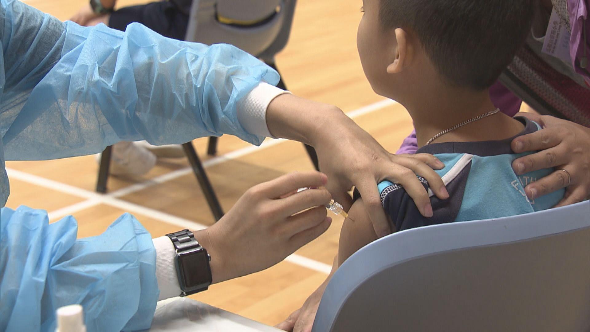 本年度流感疫苗接種劑數較去年多一成一