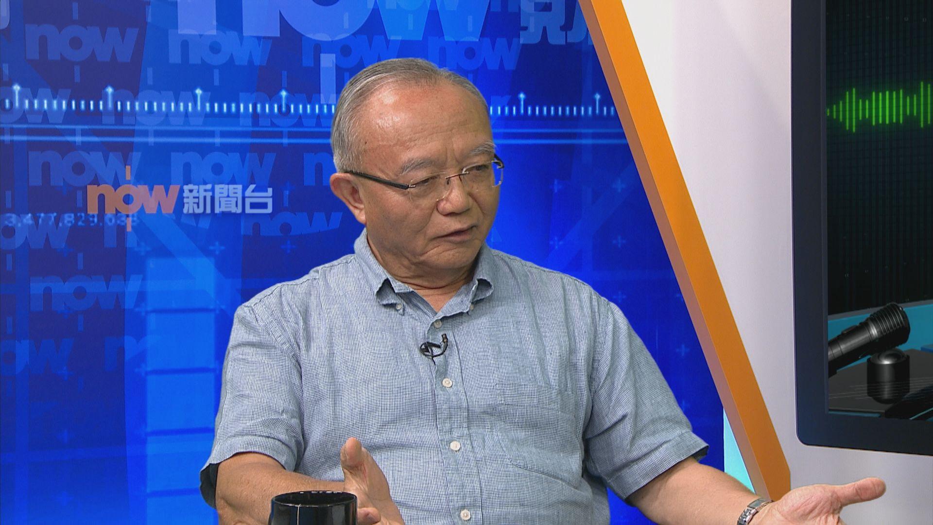 劉兆佳:警方大力壓制下示威活動正逐步降溫