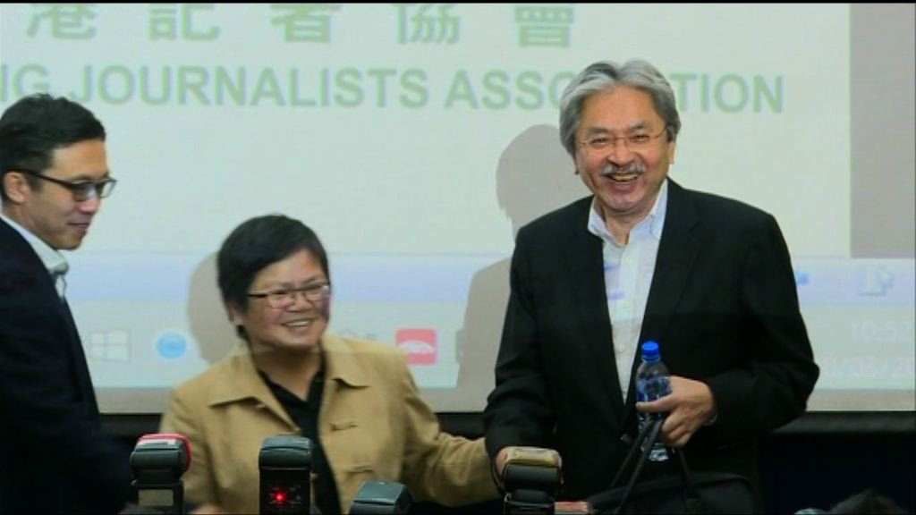 曾俊華承諾當選後會頻密見記者