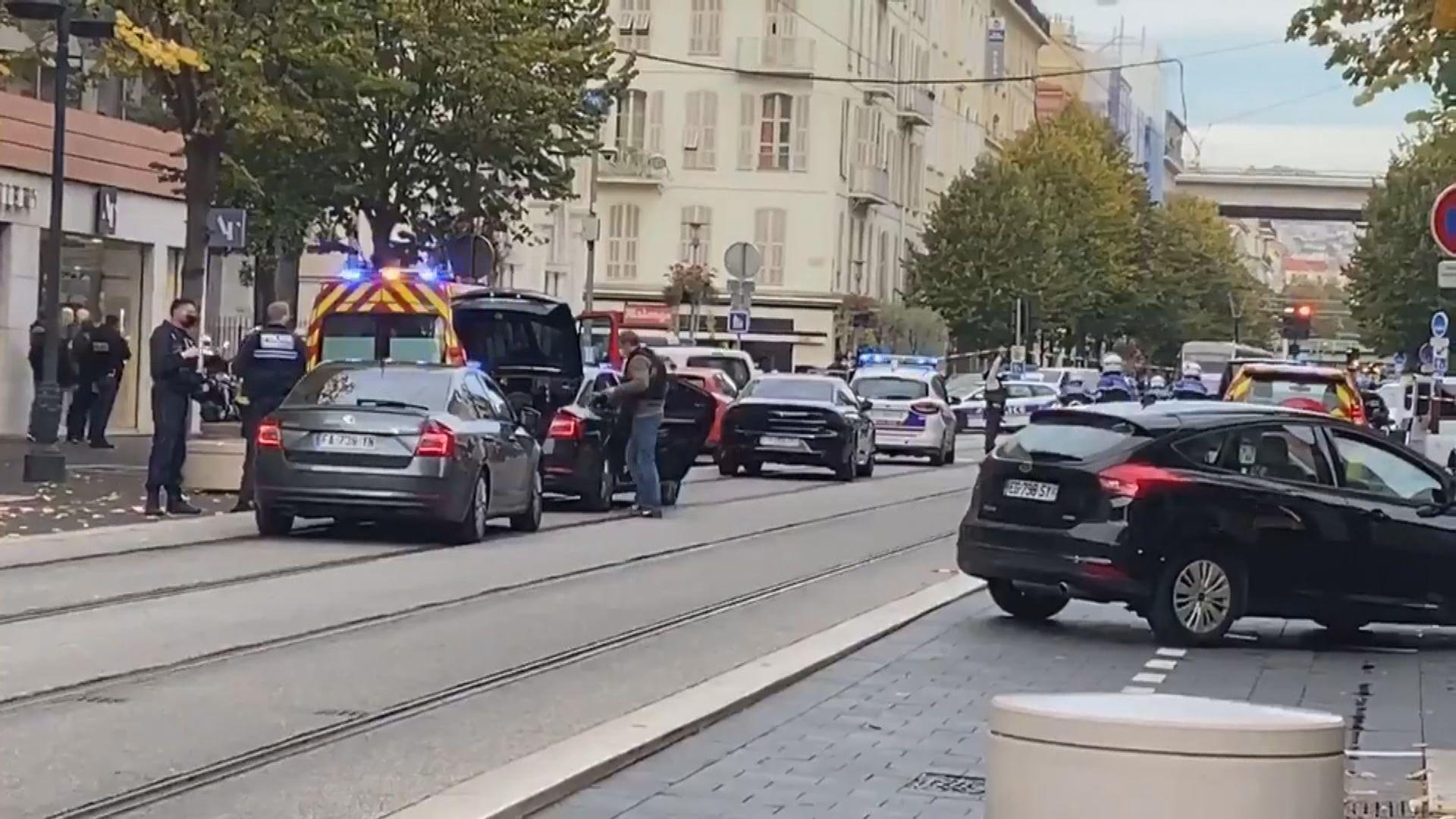 法國尼斯發生持刀襲擊案 三死多傷