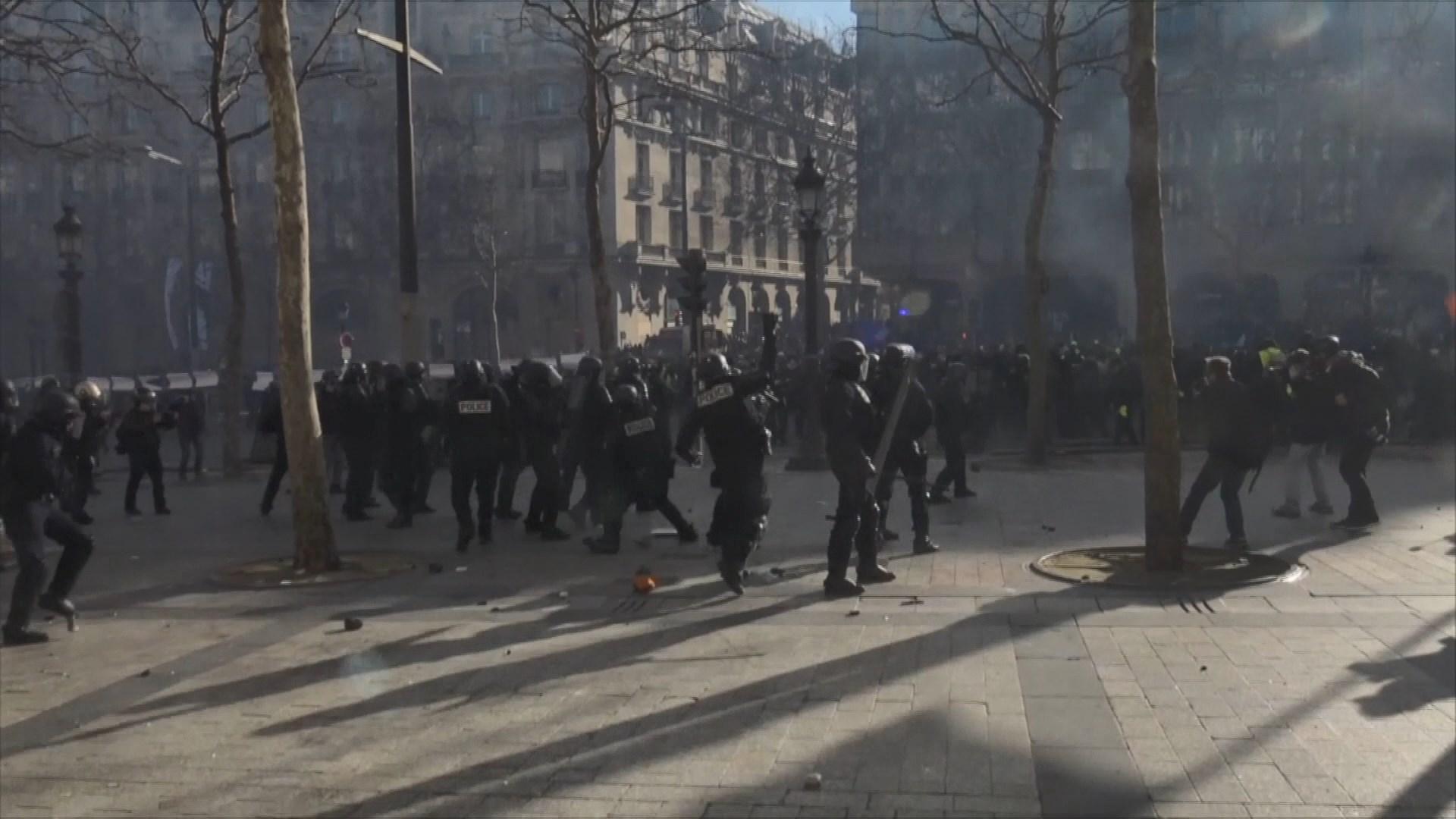 法國禁止部分地區舉行黃背心示威