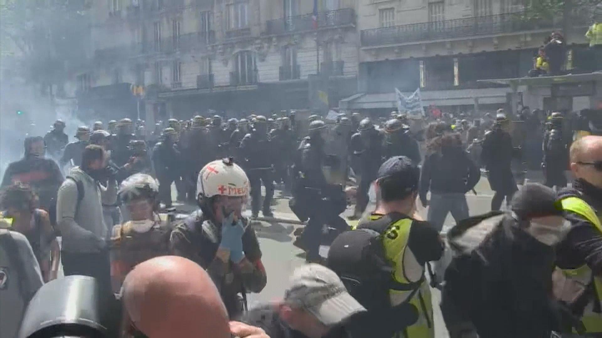 法國巴黎示威爆發警民衝突