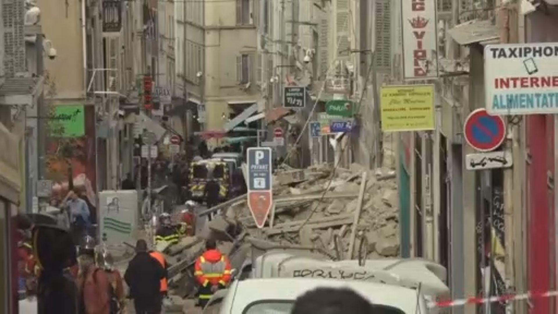 法國馬賽兩樓房倒塌兩人傷