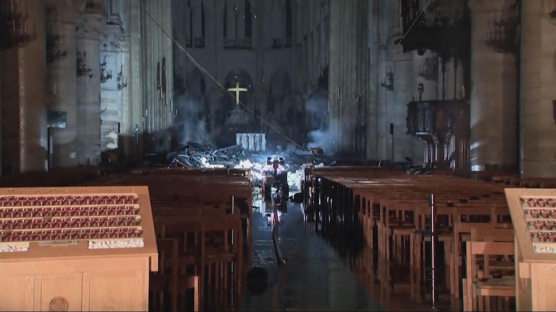巴黎聖母院大火 重要文物轉送羅浮宮暫存
