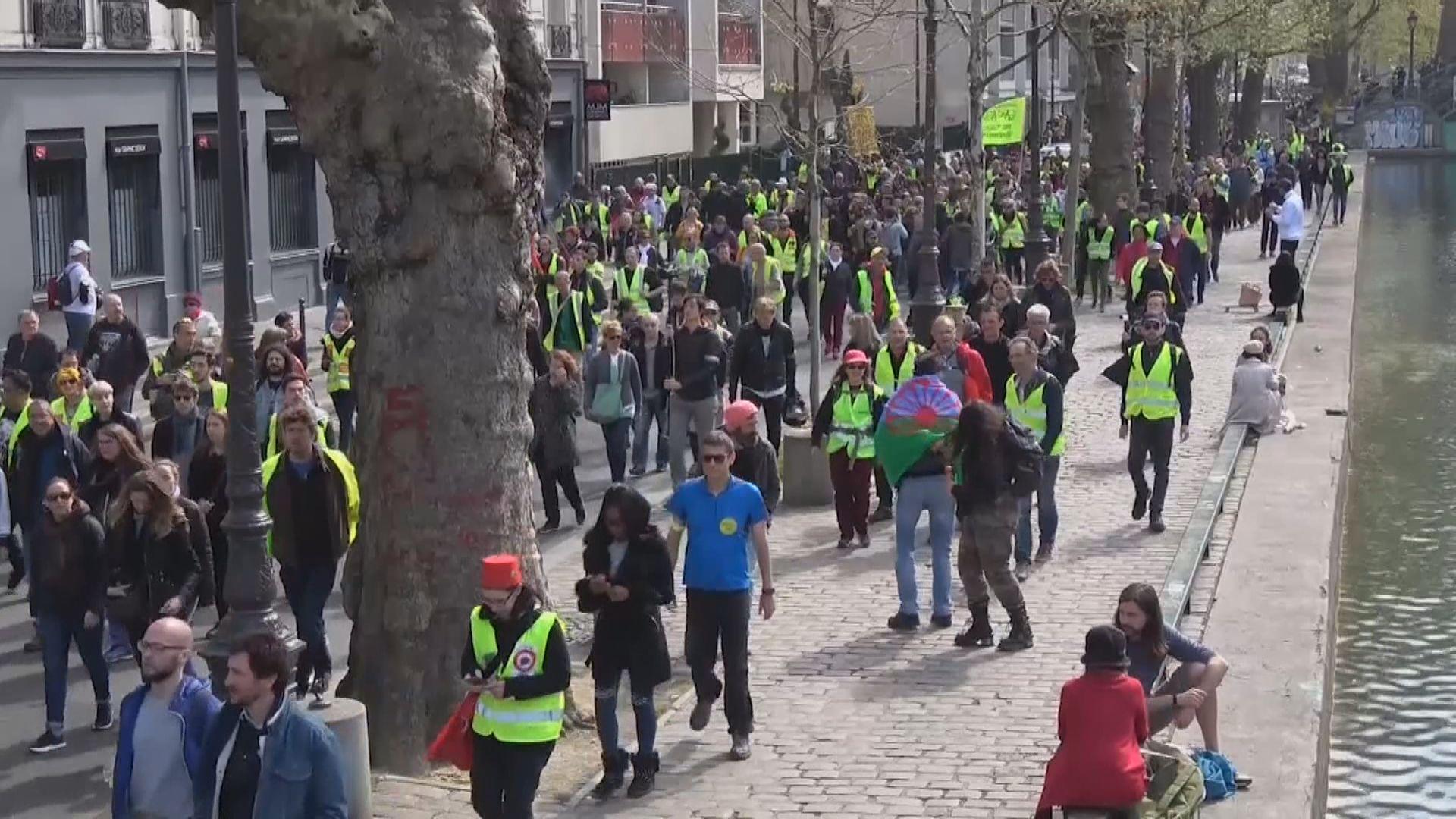 法國黃背心示威持續 示威人數大減