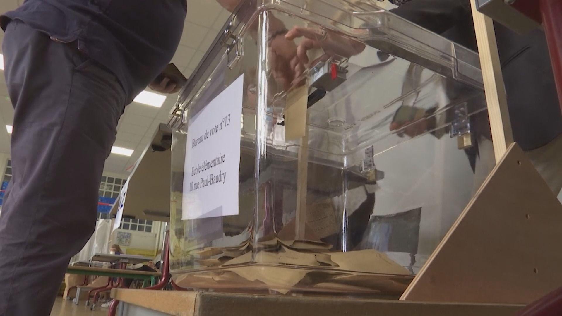 法國地方選舉首輪投票結束