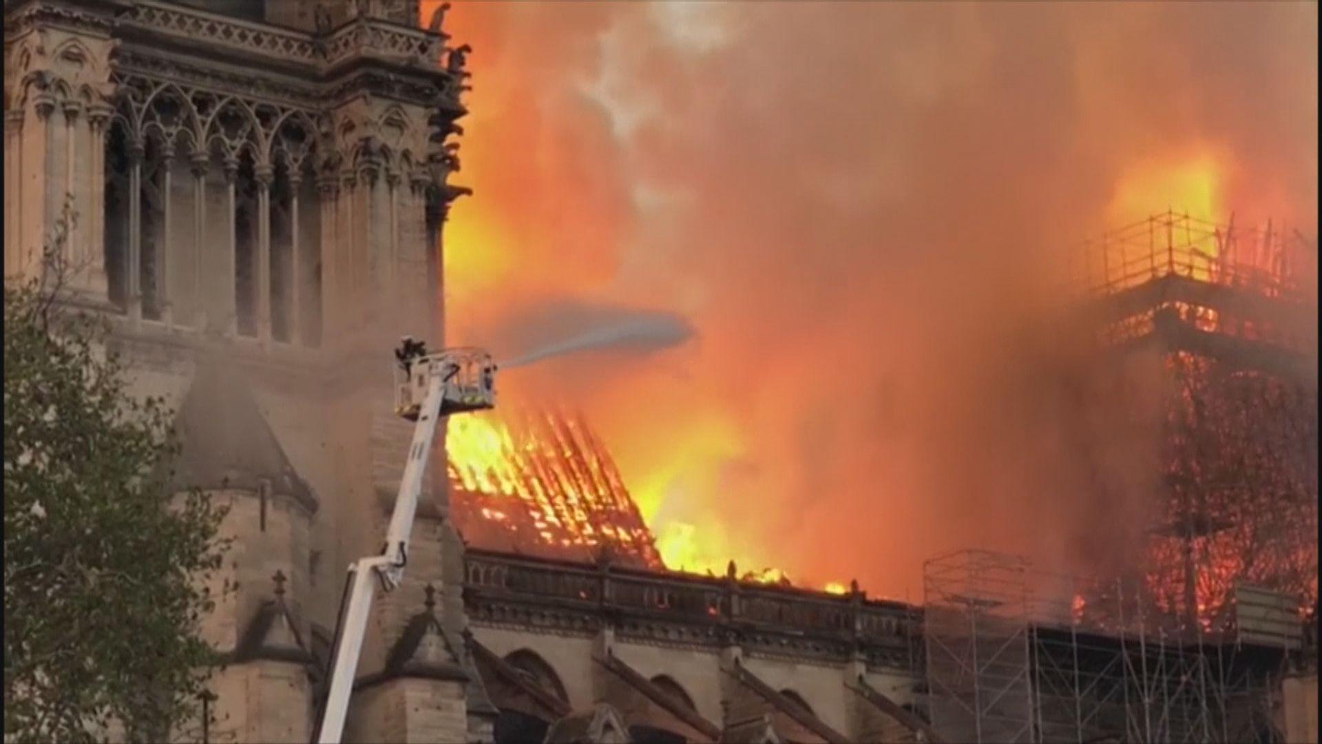 巴黎聖母院大火 焚燒15小時後被救熄