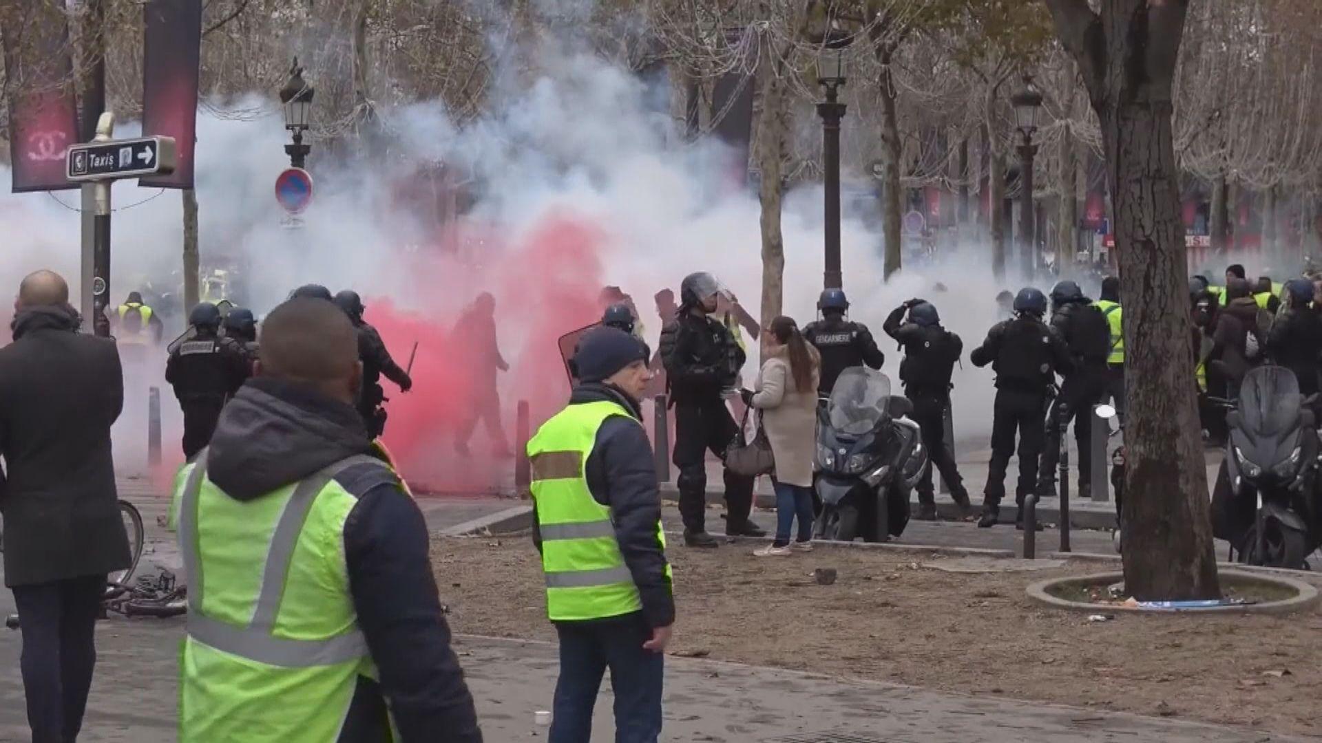 法國多處抗議調高柴油稅變成騷亂