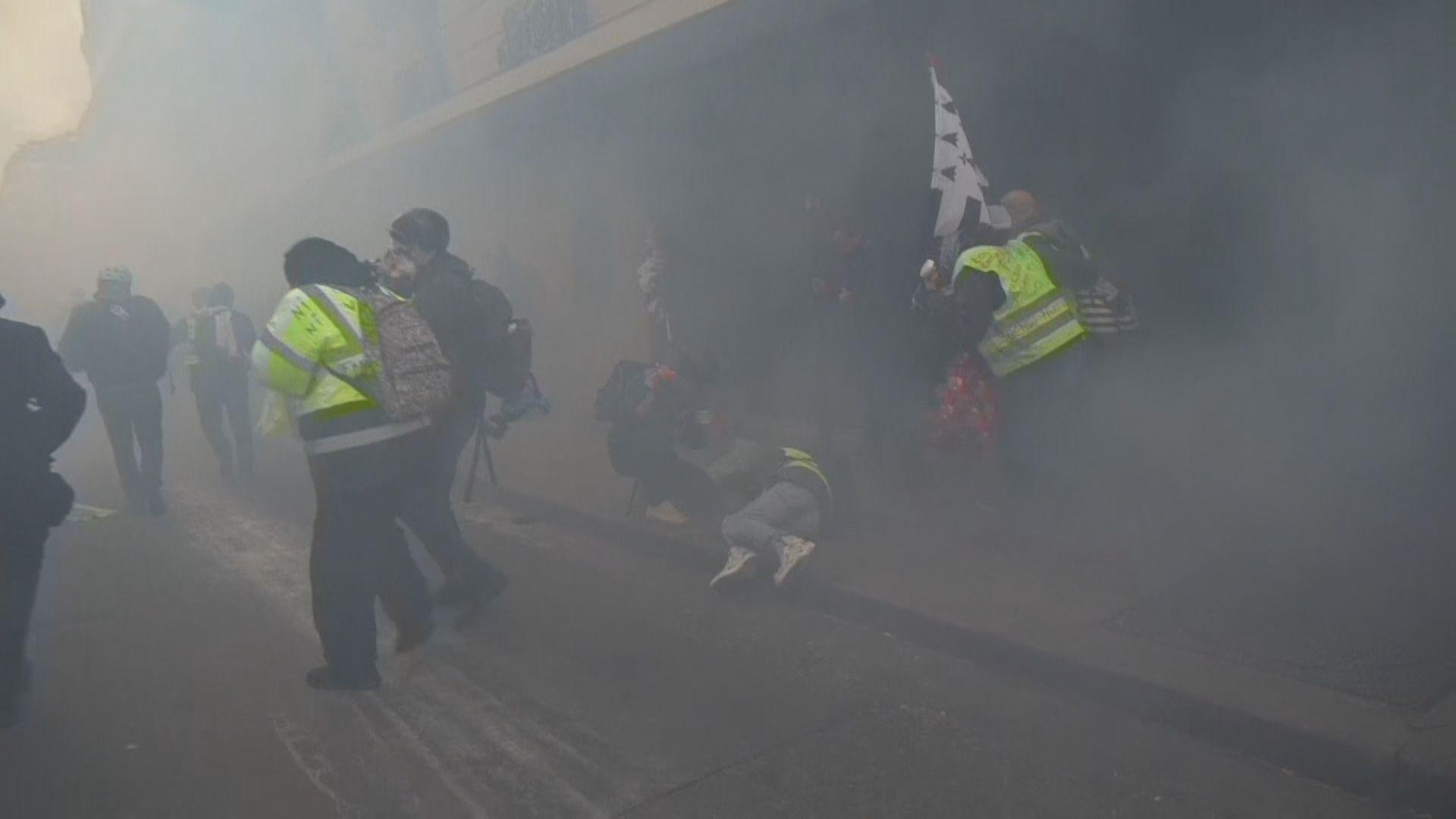 法國再爆發黃背心示威 警方施放催淚氣體
