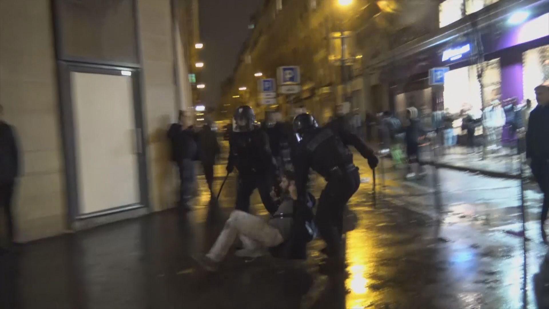 法國示威再起衝突 逾千人被拘留