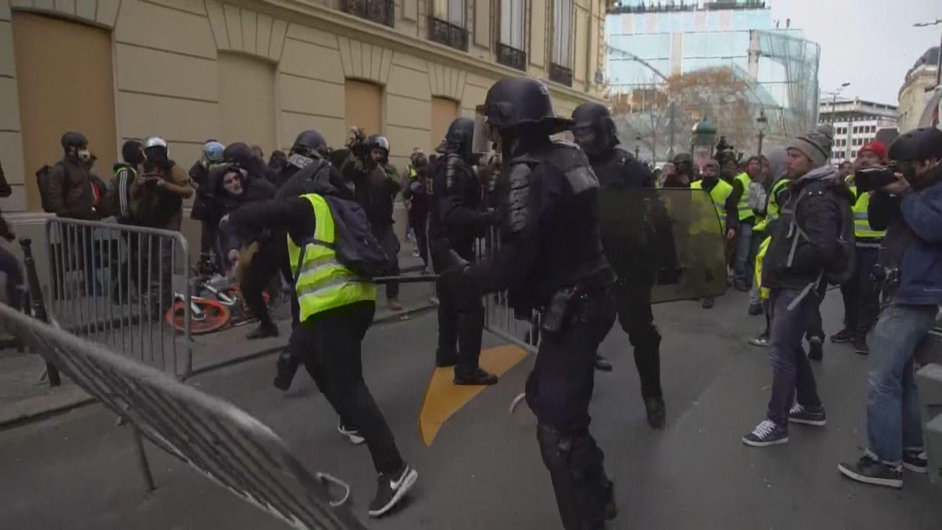 巴黎將動員八千警力應對黃背心示威