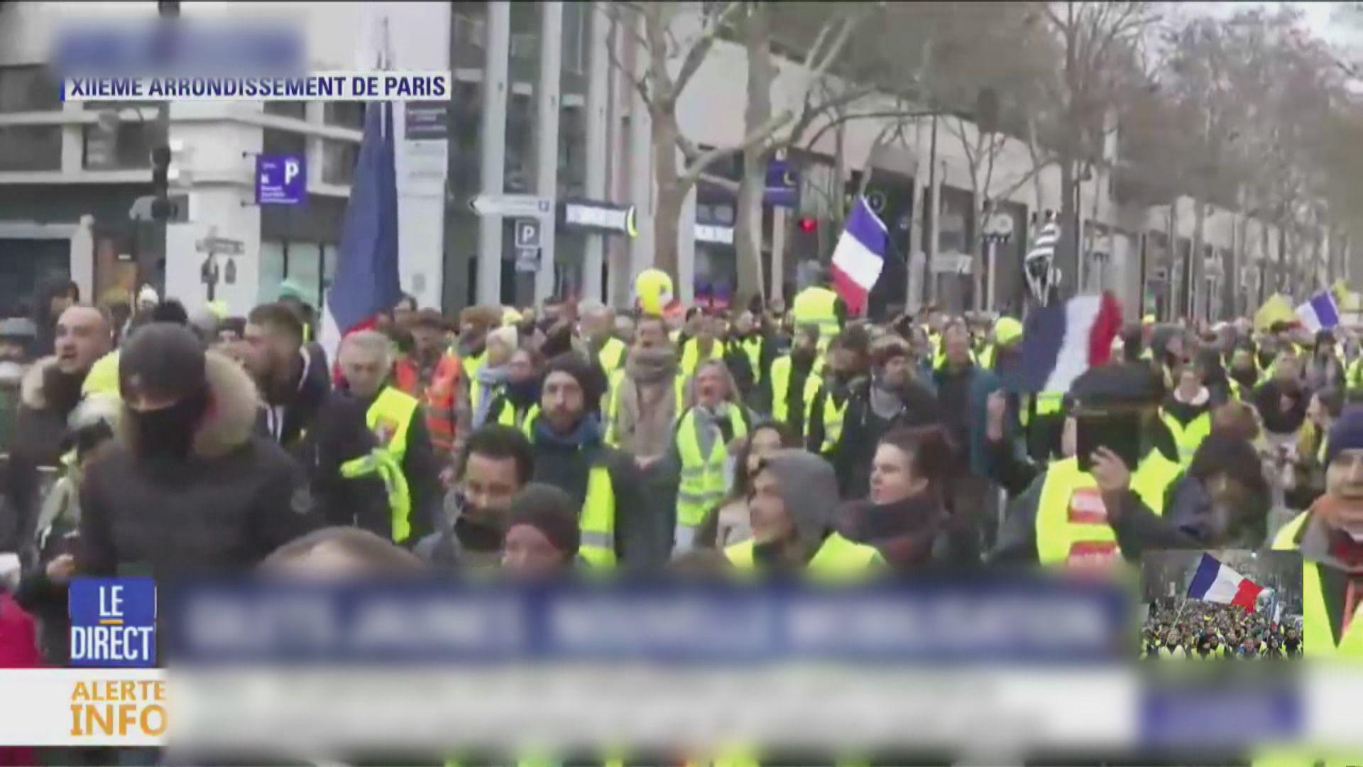 法國再有黃背心示威者上街 多人被捕