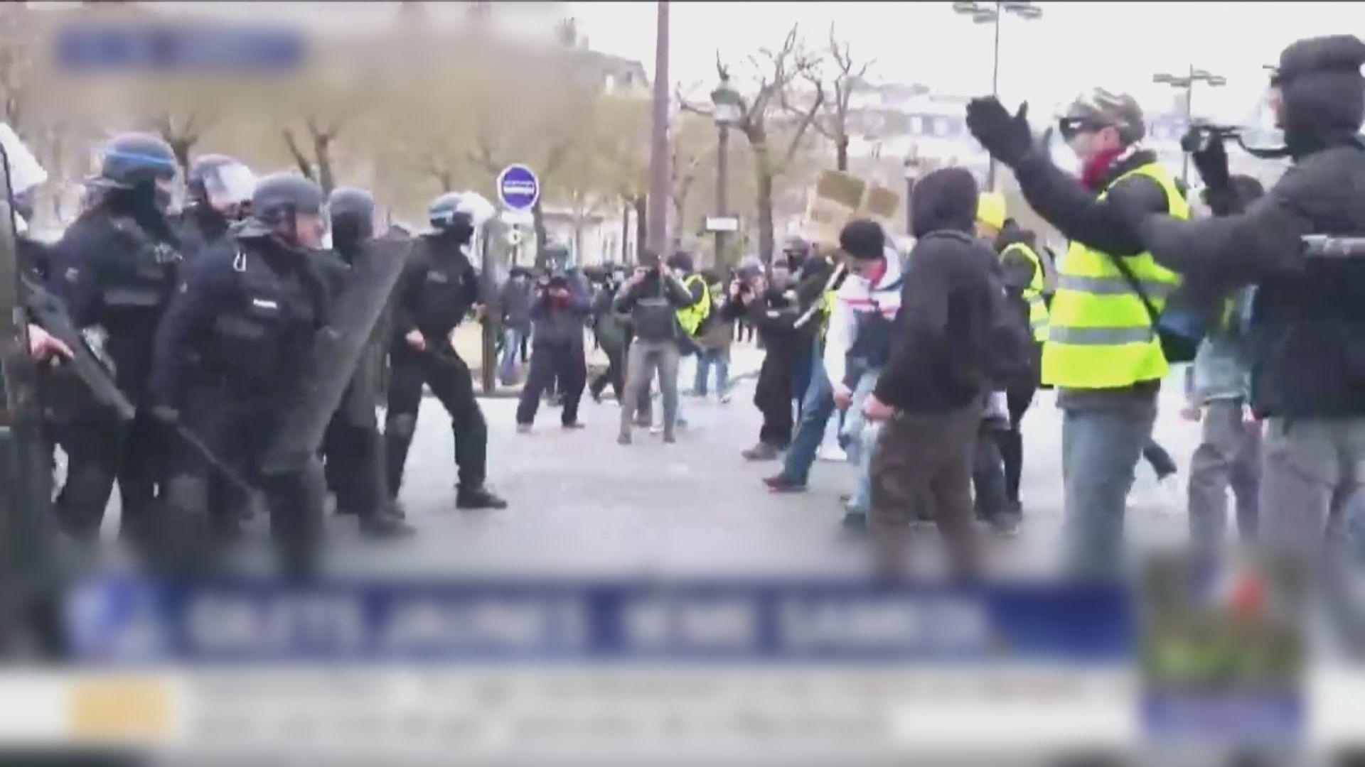 法國巴黎黃背心示威觸發零星衝突