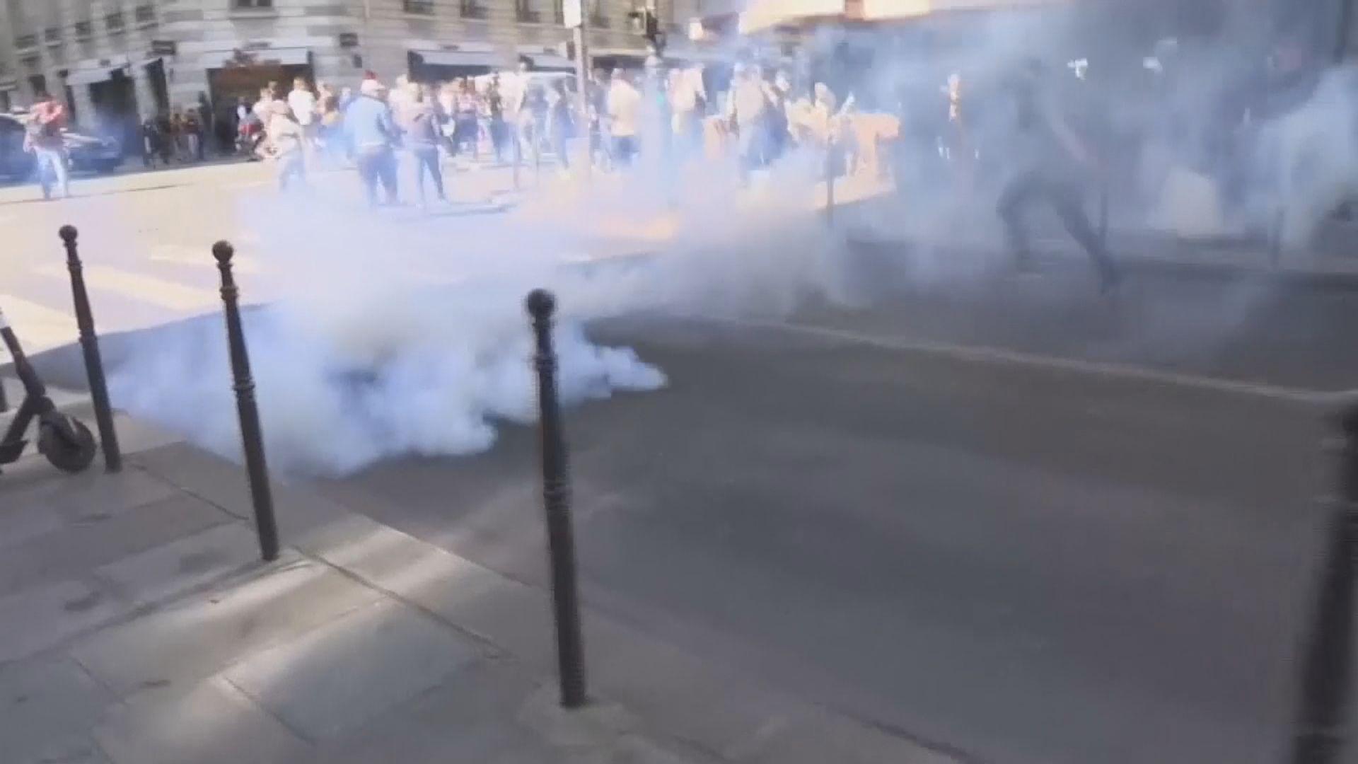法國再有黃背心示威 警方施放催淚煙驅散
