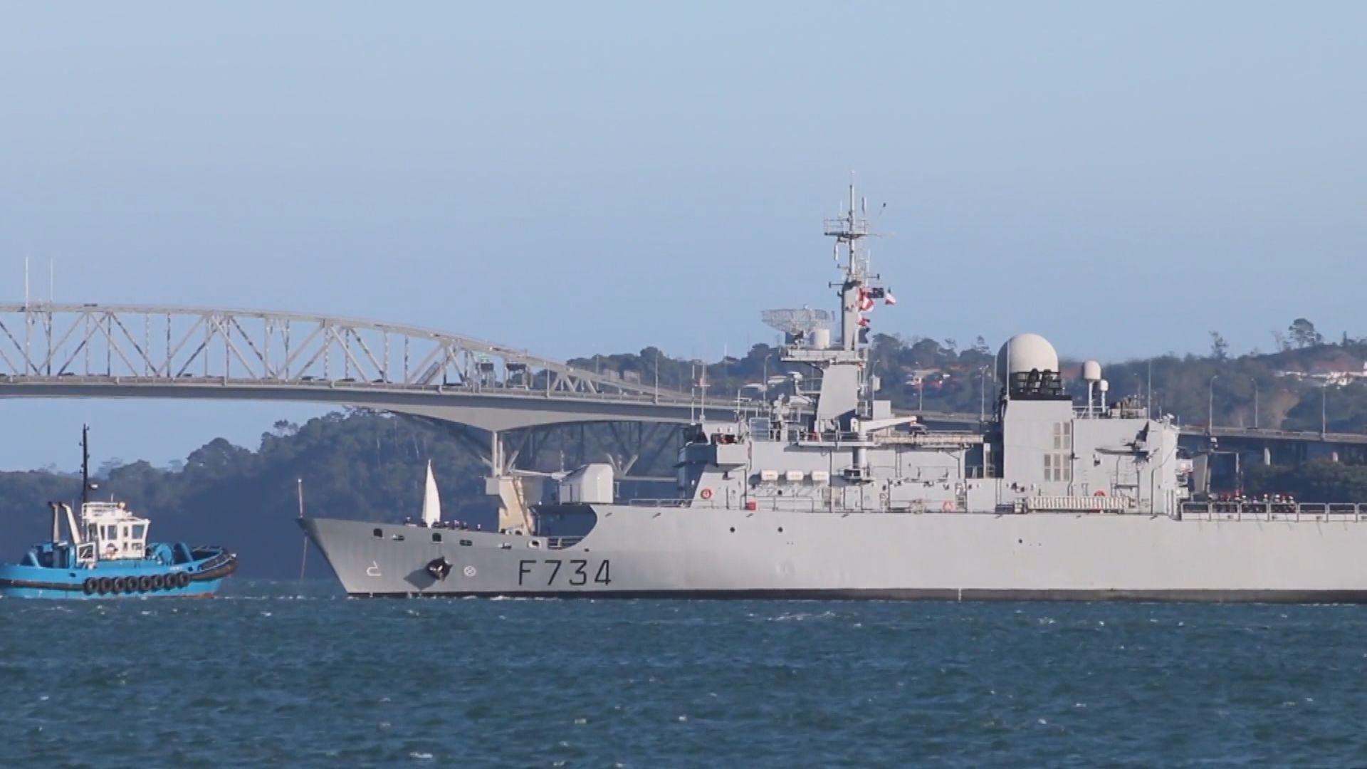 據報法軍艦月初曾通過台灣海峽