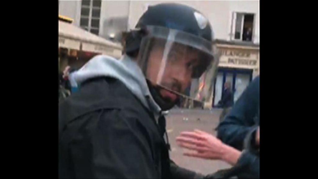 馬克龍保安幕僚被揭發打示威者