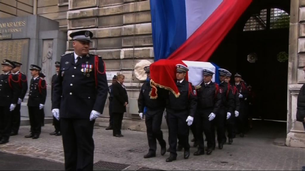 法國官方悼念槍擊案殉職警員